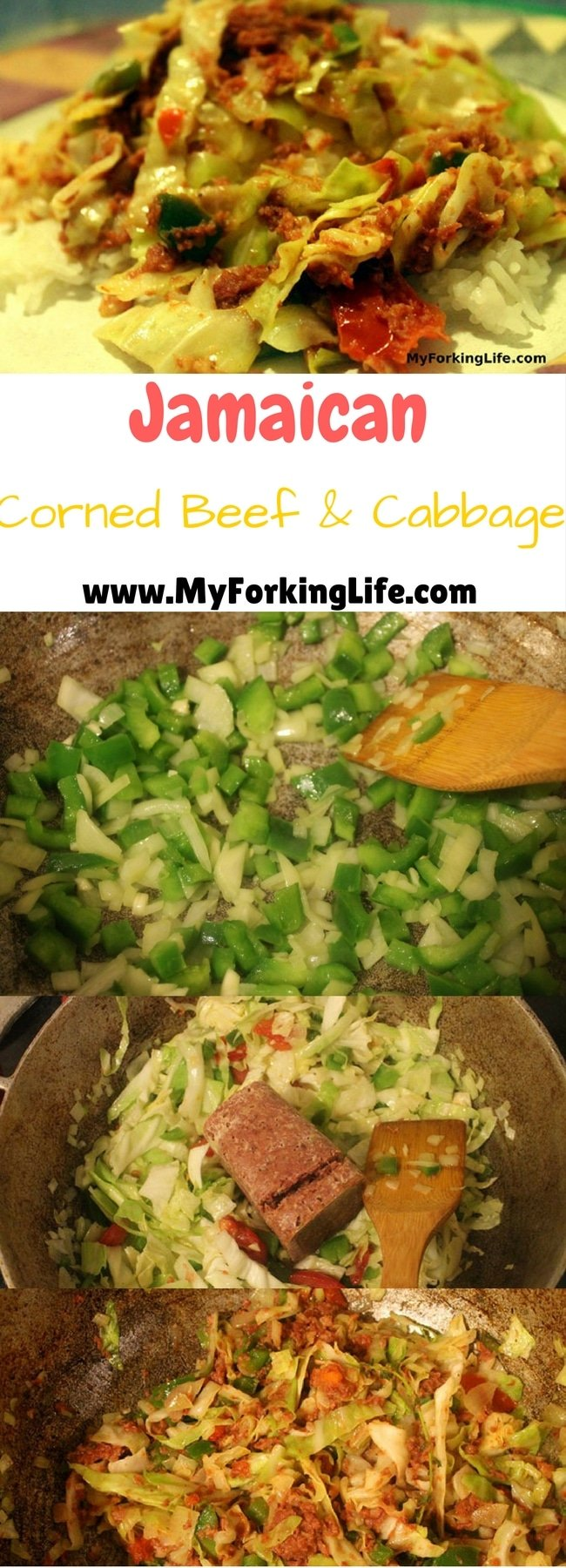 Pinterest image for corned beef and cabbage