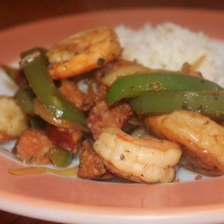 Balsamic Sausage Shrimp
