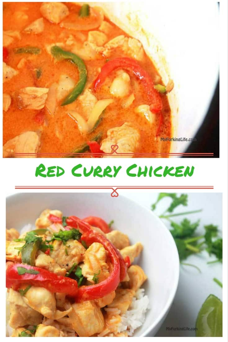 Easy Red Curry Chicken Recipe. Your taste buds will jump for joy with this easy and exotic weeknight dinner option.
