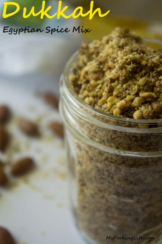 Dukkah Egyptian Spice Mix. Perfect spice mix for Poultry, Meats, and Vegetables.