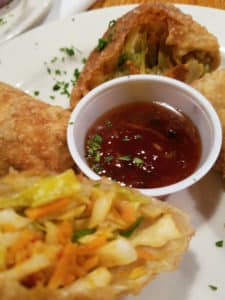 appetizers with dipping sauce