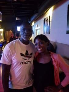 Peter thomas and Tanya at sports one bar