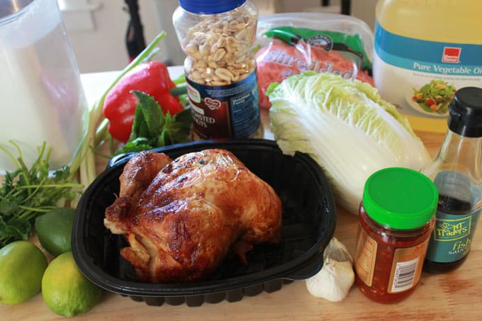 ingredients for vietnamese chicken salad