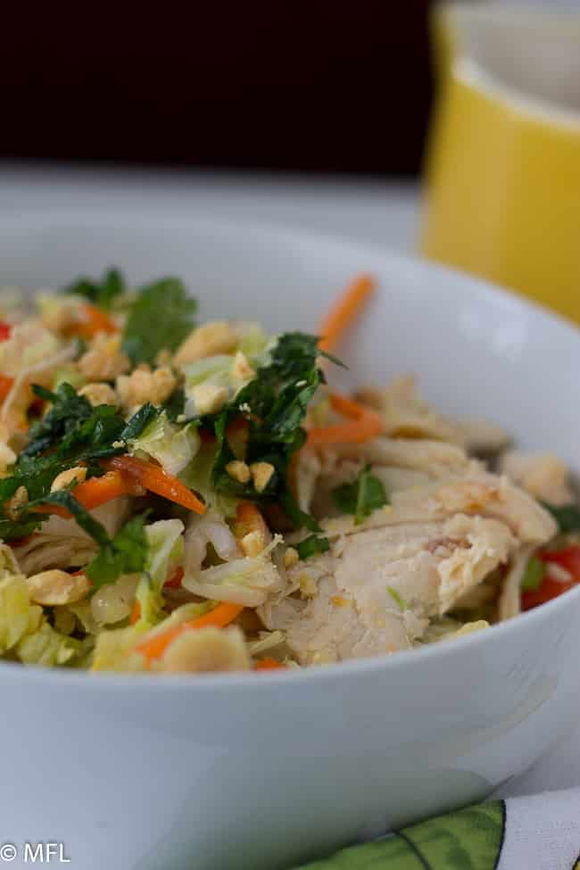 Vietnamese chicken salad. Perfect for lunch. Quick and healthy to make.