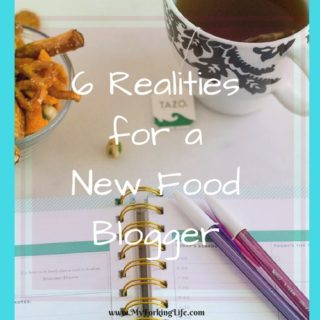 6 realities for a new food blogger. My experience as a new food blogger.