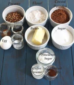 photo of ingredients on a blue blackbaord