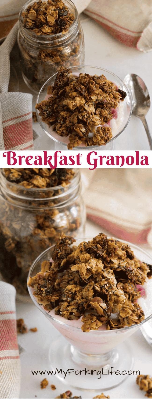 pinterest image for breakfast granola