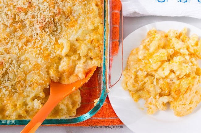 creamy baked macaroni and cheese, the best baked macaroni and cheese, creamy mac and cheese