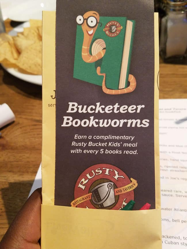 rusty bucket bookmark