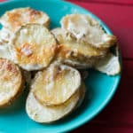Scalloped potatoes with blue cheese. potatoes au gratin