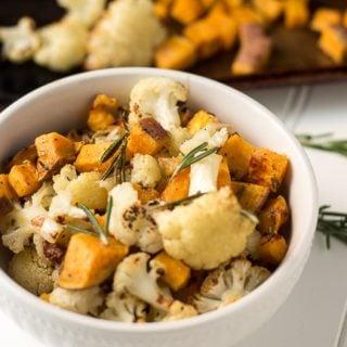 Roasted Cauliflower and Sweet Potato Recipe