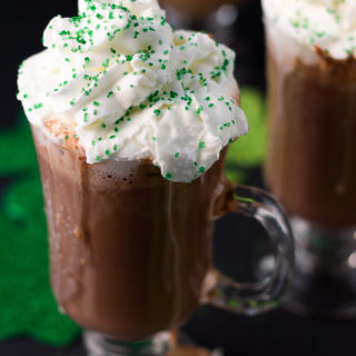 Shamrock Mint Hot Chocolate Recipe. Great drink for St. Patrick's Day.