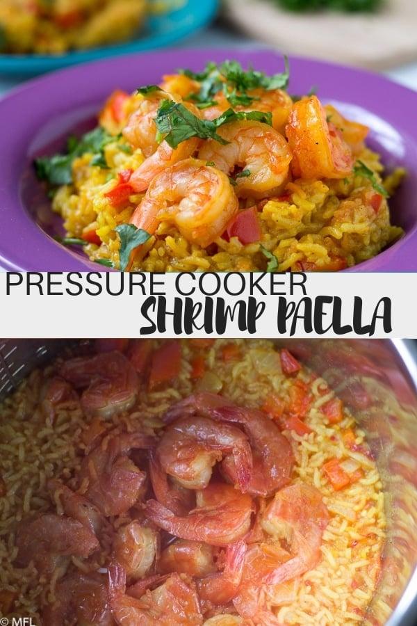 pressure cooker shrimp paella pinterest image
