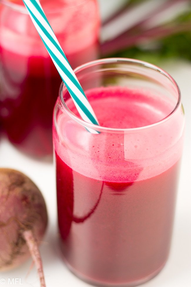 This 3 Ingredient Beet Apple Carrot Juice Recipe is a delicious and healthy drink. Beets have a ton of health benefits and this is a great way to get it in your diet. Vegan friendly juice.