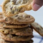 Chocolate chip pecan cookie recipe. Thin and crispy cookies with a chewy middle. Bake these and have them with milk.