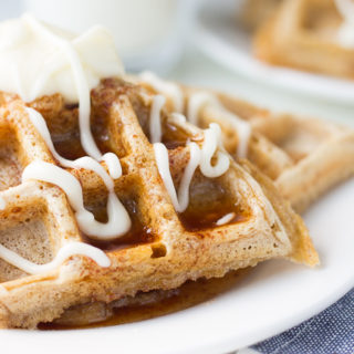 These Cinnabon Waffles are a great twist on the typical Cinnamon roll. Great for brunch. Great for breakfast.