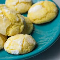 Lemon Crinkle Cookies from Scratch