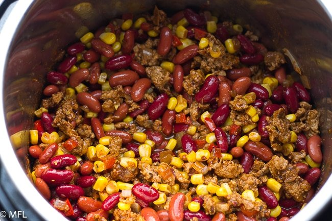 pressure cooker turkey chili