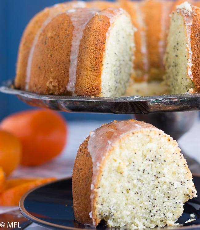 Orange Poppy Seed Bundt Cake is a delicous citrus cake with the right amount of poppy seed crunch.