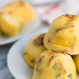 Sous Vide Egg Bites Recipe in the Instant Pot. Creamy and delicate eggs steamed to perfection. Perfect for a make ahead breakfast.