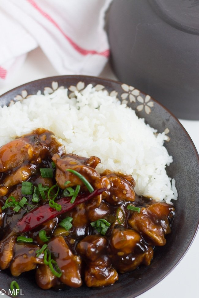 general tso's chicken on plate