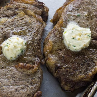 Perfect Air Fryer Steak with Garlic Herb Butter