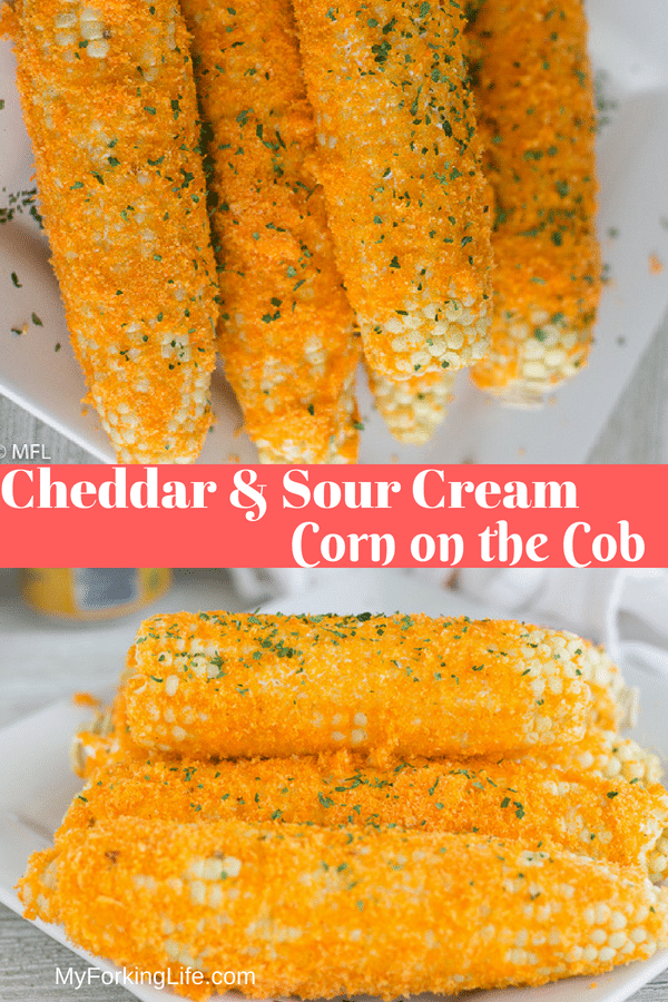 Try this Easy Cheddar and Sour Cream Corn on the Cob Seasoning. A delicous side dish for any summer bbq. #cornonthecobseasoning #sidedish #corn #summermeals #easymeals #summervegetables #myforkinglife #instantpot #instantpotsides