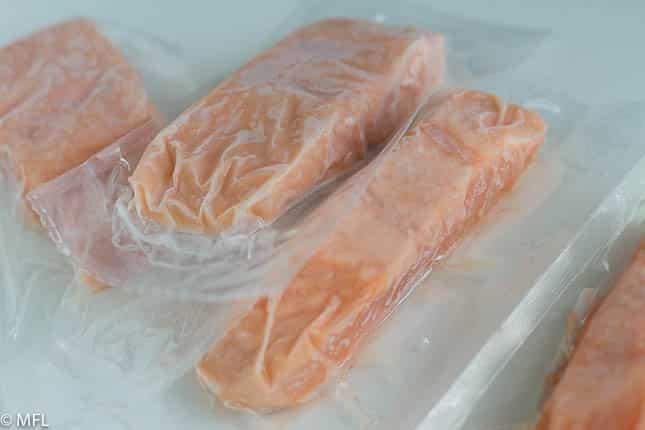 frozen salmom