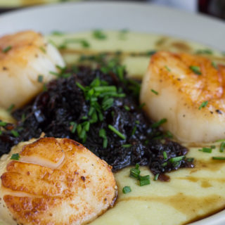 Pan Seared Scallops with Purple Carrot Chutney