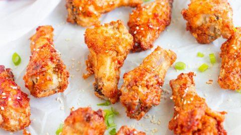 Crispy Korean Air Fried Chicken Wings My Forking Life
