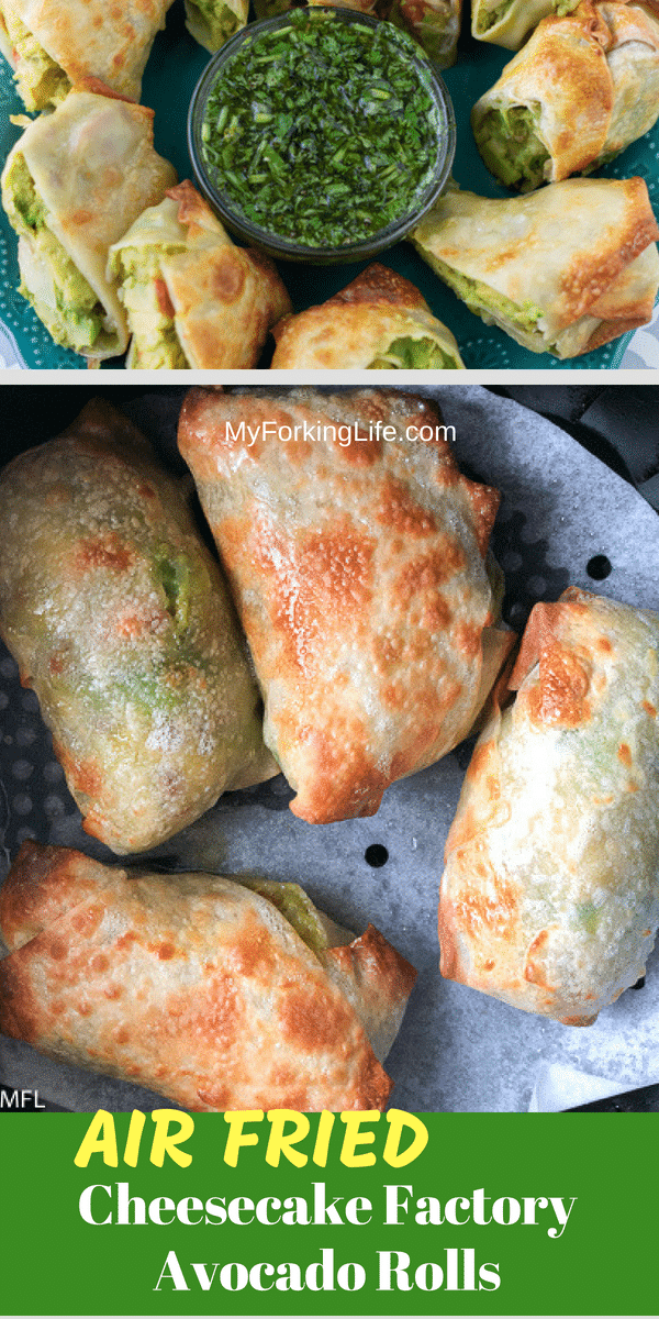 pin for avocado egg roll recipe