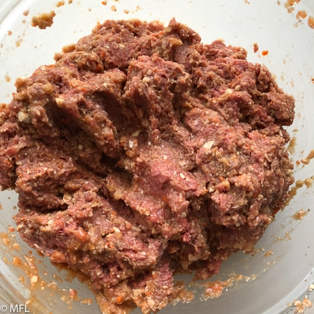 air fried meatloaf mixture