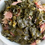 These Southern Style Pressure Cooker Collard Greens are flavorful, tender, and cooked in half the time than the stove top method. Now you can enjoy collard greens any day of the week