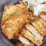 air fryer boneless pork chop on a plate
