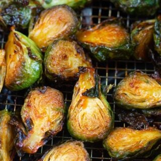 Sweet and Spicy Air Fryer Brussel Sprouts