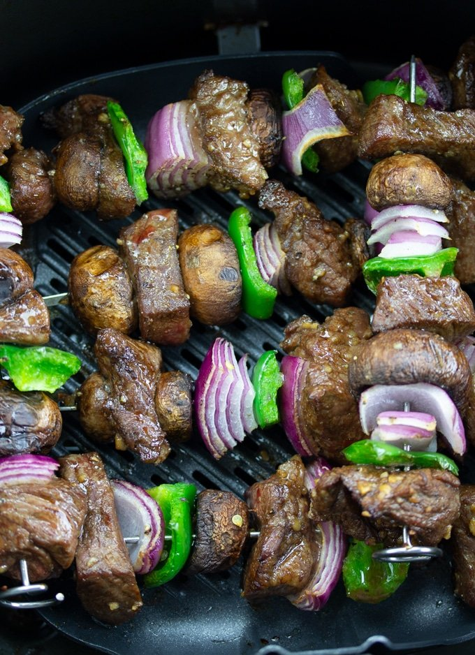 Air Fryer Steak Kebabs My Forking Life