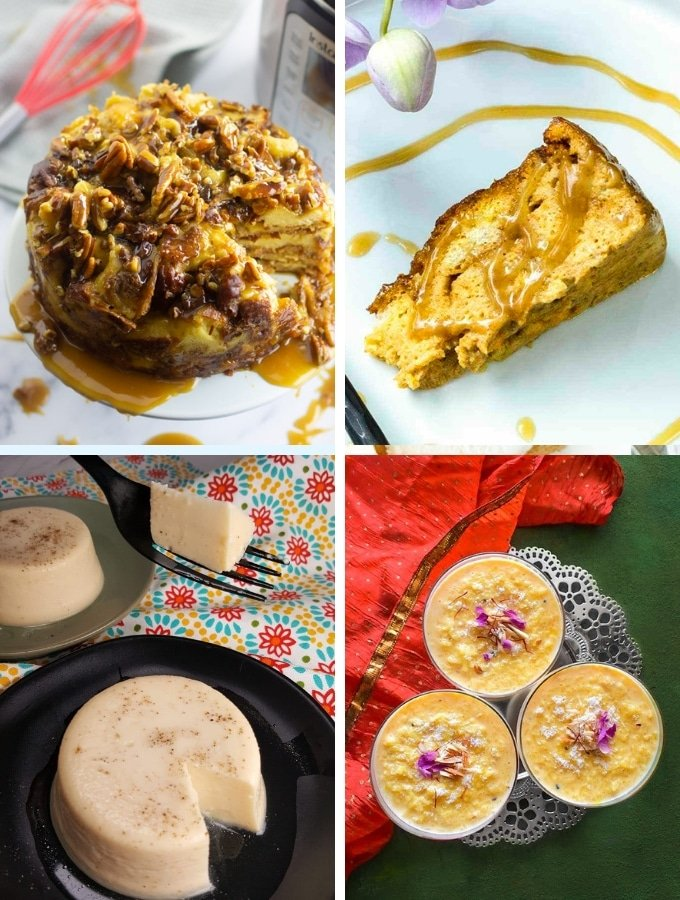 Instant Pot Dessert Pudding Recipes collage