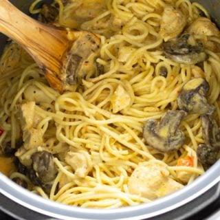 Pressure Cooker (Instant Pot) Chicken Spaghetti