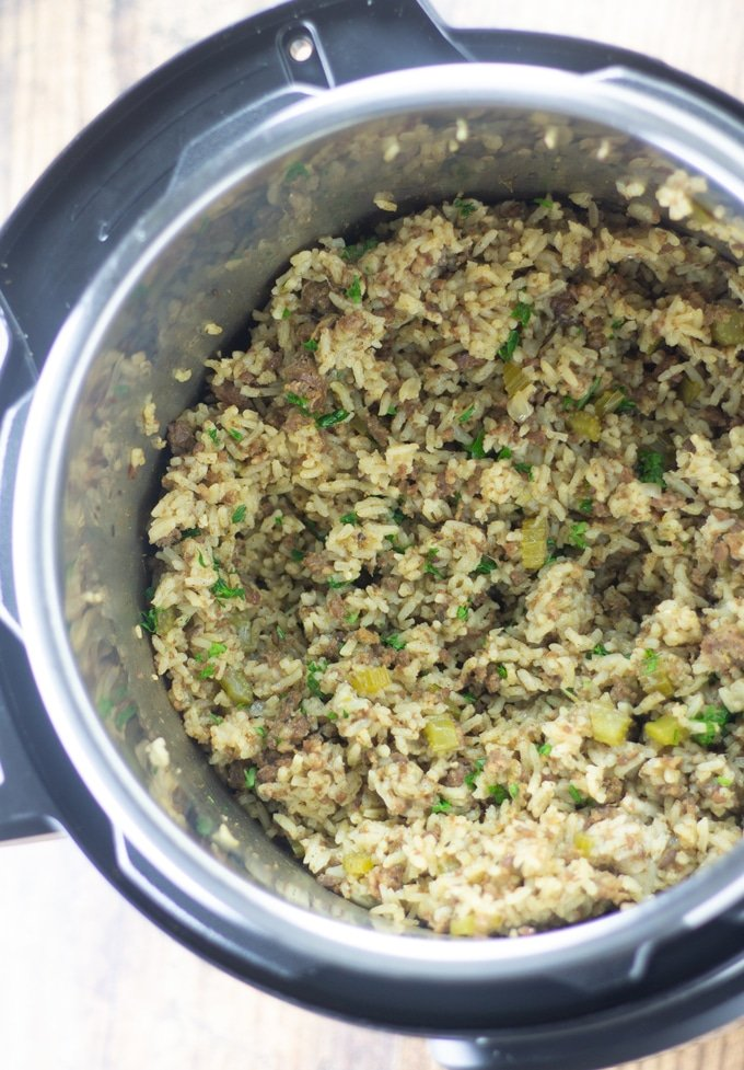 Instant Pot Dirty Rice Completed