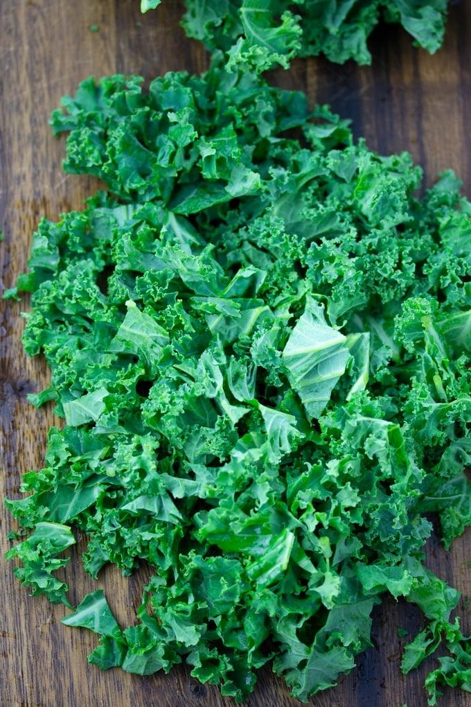 kale broken into pieces