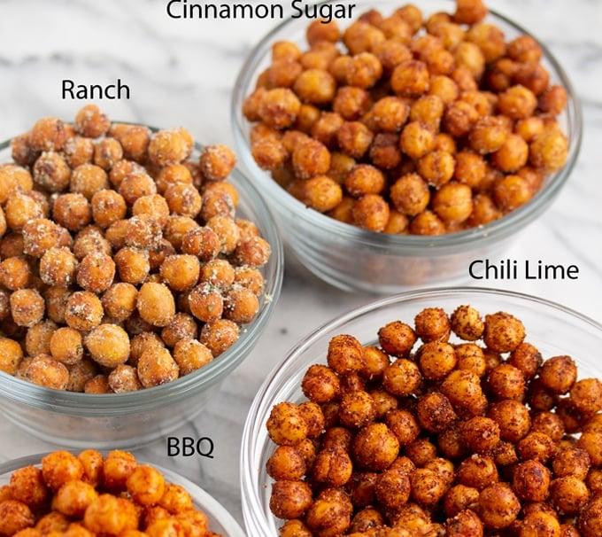 Crispy Air Fryer Chickpeas (4 Different Flavors)