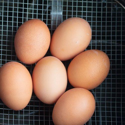 air fryer whole eggs in basket