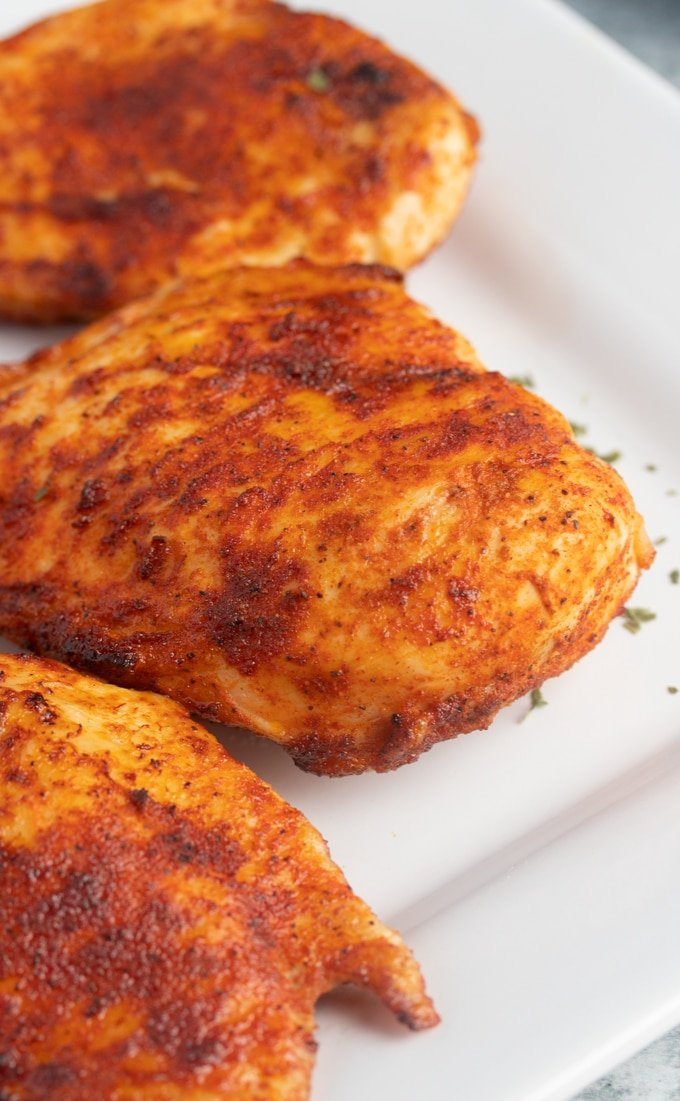 cooked chicken breast on a plate