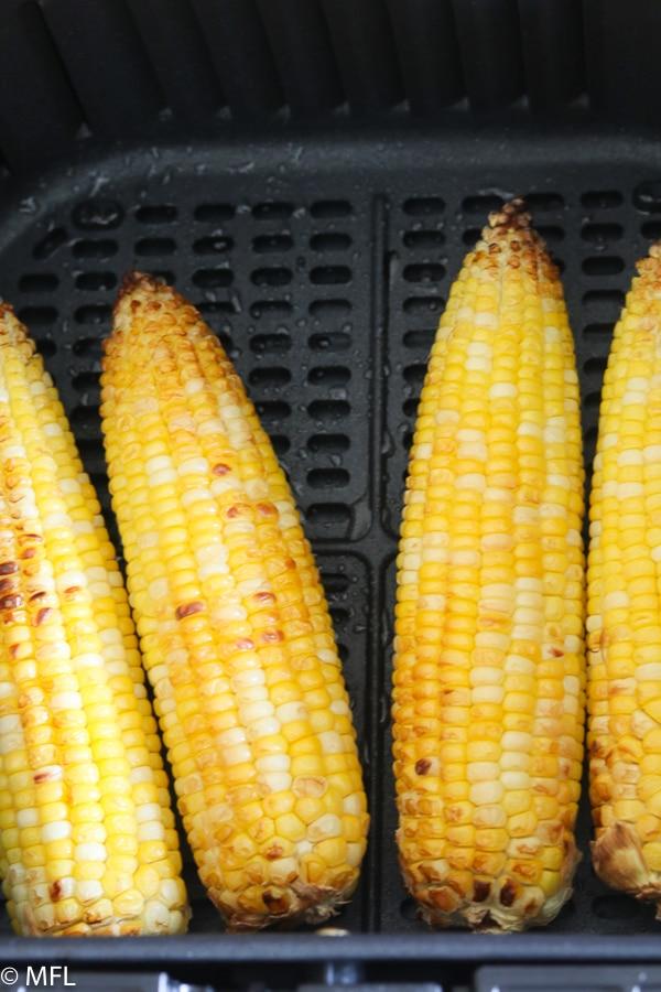 roasted corn in air fryer basket