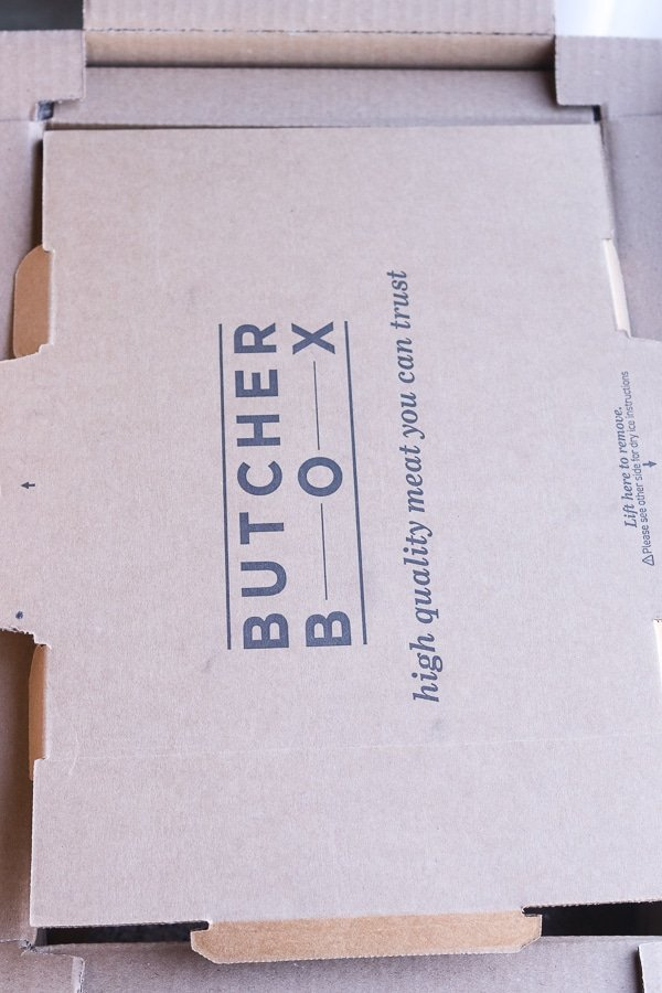 the top of a butcherbox box