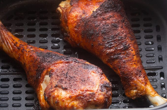 roasted turkey legs in air fryer basket