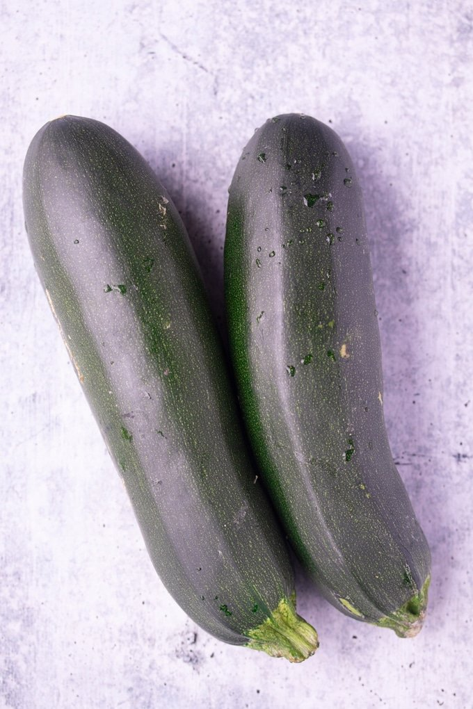 two zucchini on table