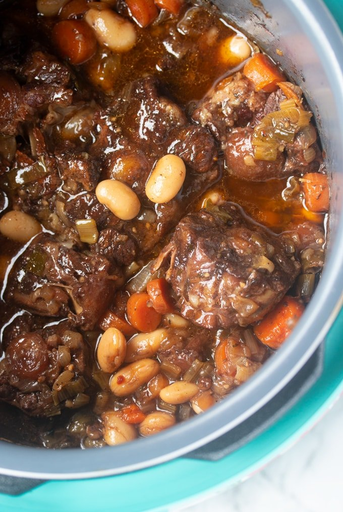finished Jamaican oxtails in instant pot
