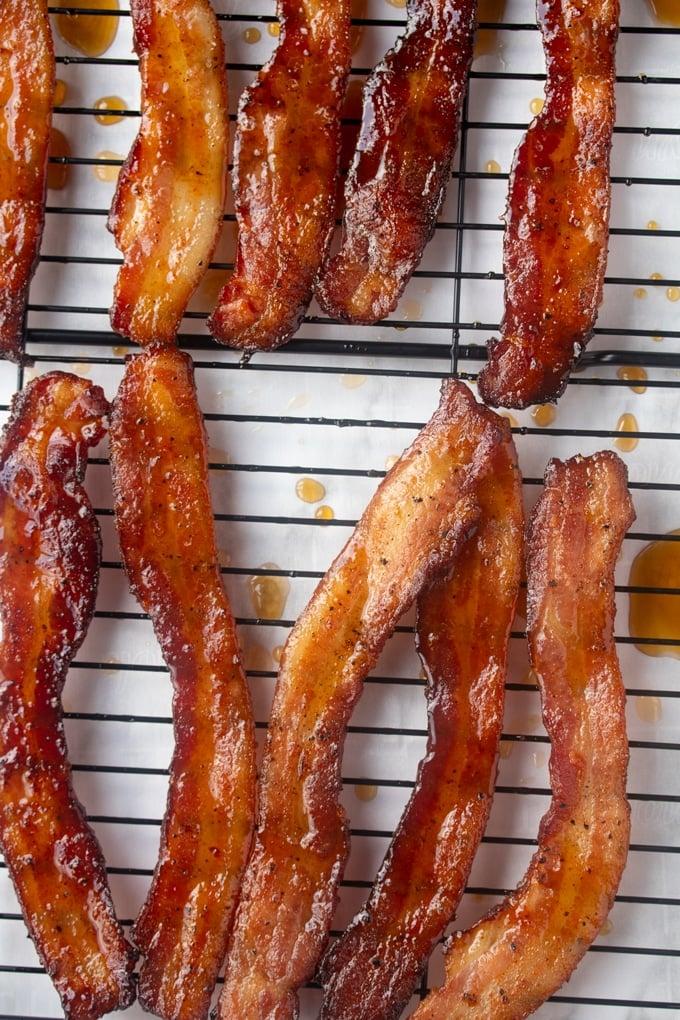 million dollar bacon on a rack