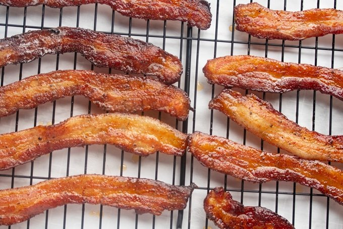 bacon on cooling rack